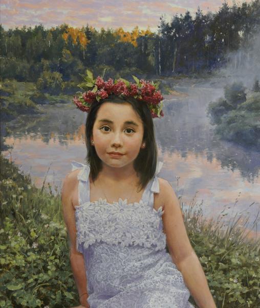 Владимир Александров. Девочка в венке