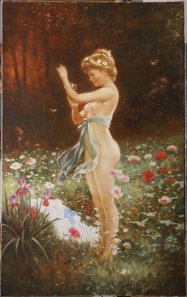 Владимир Александров. Девушка с бабочками.