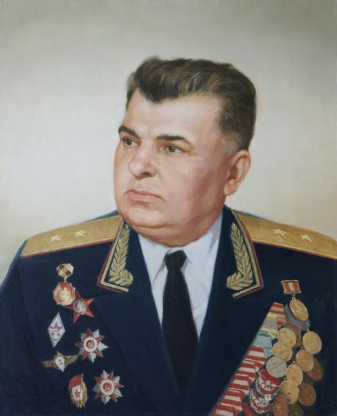 Владимир Александров. Портрет военного.