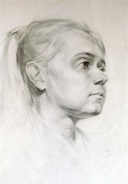 Владимир Александров. Портрет девушки.
