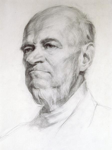 Владимир Александров. Портрет старика.