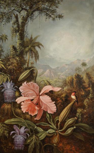 Владимир Александров. Орхидея и колибри.