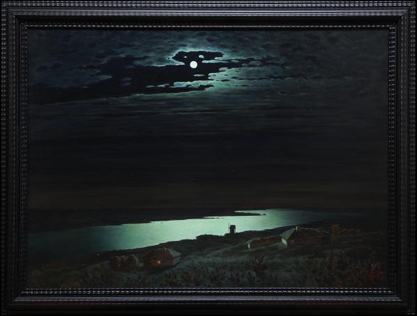 Владимир Александров. Лунная ночь на Днепре.
