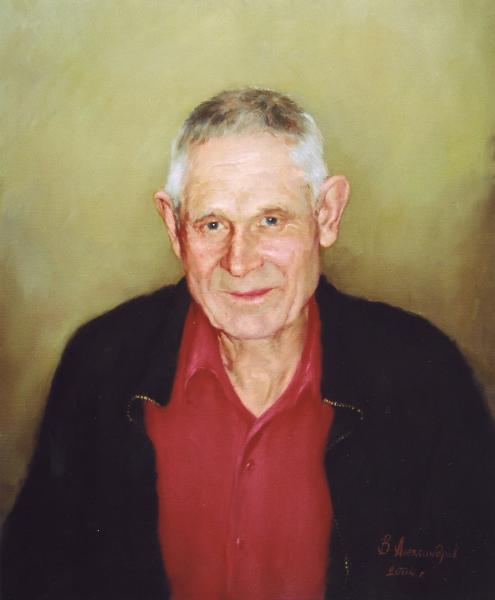 Владимир Александров. Портрет пожилого мужчины.