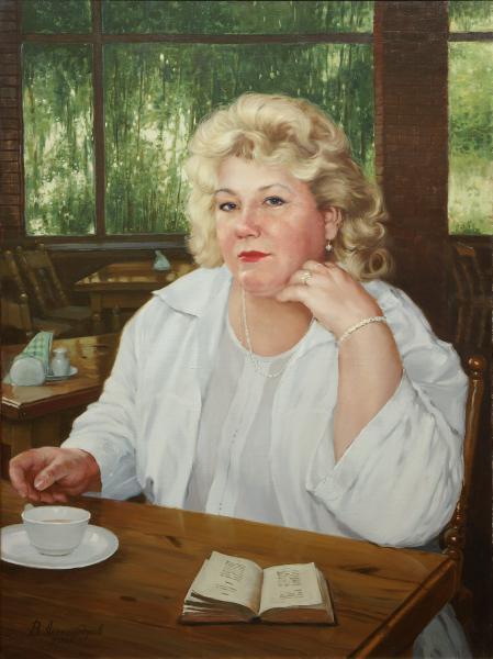Владимир Александров. В кафе.