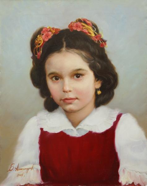 Владимир Александров. Портрет девочки.