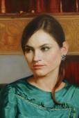 Владимир Александров. Девушка в изумрудном платье.. 2005. Фрагмент.
