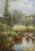 Владимир Александров. Пейзаж с цаплей
